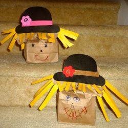 Paper Bag Scarecrows