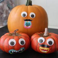 Silly Sticker Pumpkins