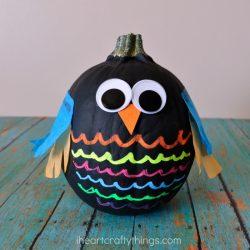 No-Carve Owl Pumpkins