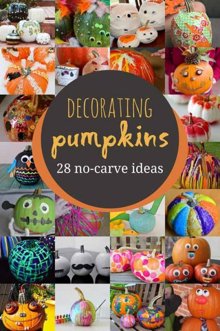 No,Carve Pumpkin Decorating for Kids to Get Creative