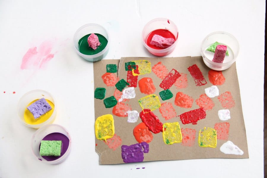 Make a Christmas ornament craft with paint.