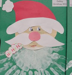 Multiple Handprint Santa Beard Craft