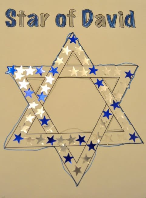 An easy sticker tracing Hanukkah activity is a fun way to get ready for the holidays!