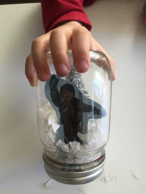 Here's a creative and simple homemade snow globe gift for kids to make.