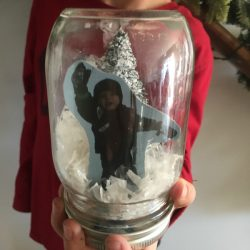 DIY Snow Globe gift for kids to make