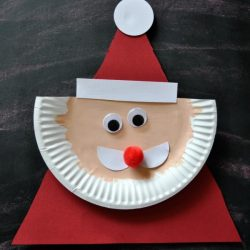 Paper Plate Santa Clause