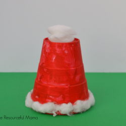 Cup Santa Hat Kid Craft