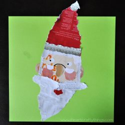 Kids Santa Craft from Magazine Scraps