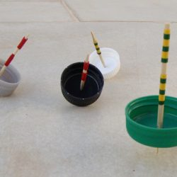 Spinning Tops from Plastic Bottle Caps