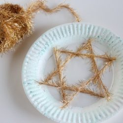 Paper Plate Star of David