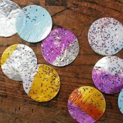 DIY Glittery Gelt