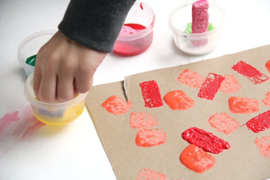 This Christmas ornament craft is great for building fine motor skills.