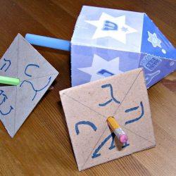 Easy Hanukkah Dreidel Craft