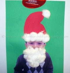 Easy Santa Craft for Kis