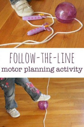 Kids will love this indoor play motor planning activity!