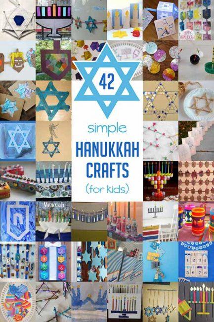 Simple Hanukkah Crafts for kids to make, including dreidels, menorahs, and even advent calendars!