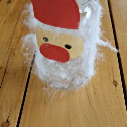 Fuzzy Santa Mason Jar Craft