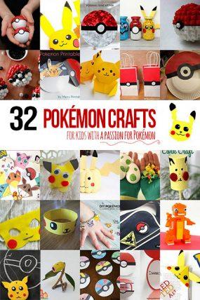 32 Pokémon Crafts for Kids that have a passion for Pokémon