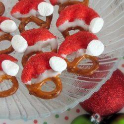 Pretzel Santa Hats