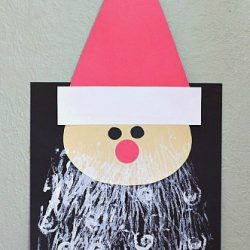 Santa Craft with Printed Beard