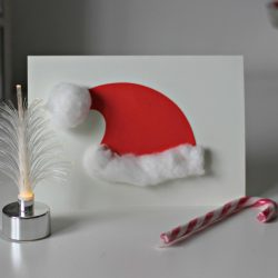 Fluffy Simple Santa Hat Card