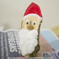 Making Santa from a Piece of Wood