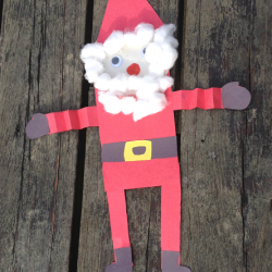 Simple Santa Shape Craft