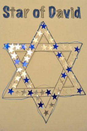 An easy sticker tracing Hanukkah activity
