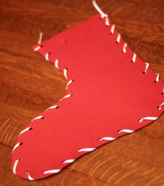 Sew together a classic Christmas stocking craft