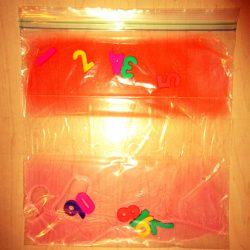Numeral Sensory Bag