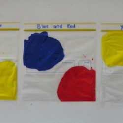 Primary Colors Squishy Bag Experiment