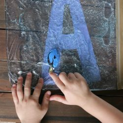Swimming Letters Sensory Bag