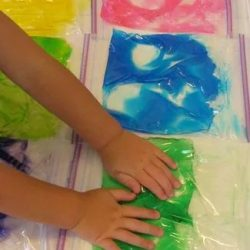 Bright and Colorful Sensory Bags for Preschool