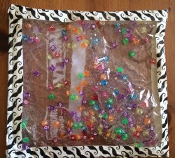 Clear Alphabet Bead Sensory Bag