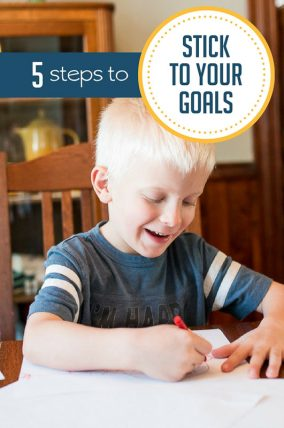 How to stick to your goal of doing more activities with the kids.