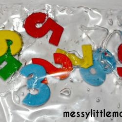 Foam Number Sensory Bag
