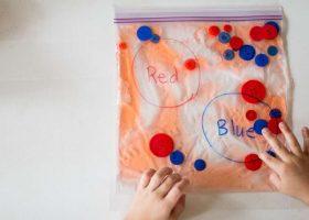 Color Sorting Sensory Bags