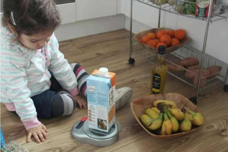 Quick Number Learning Activity on a Kitchen Scale