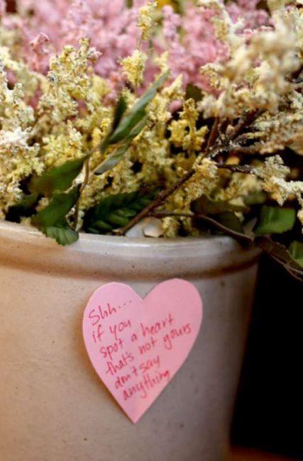 Valentine's scavenger hunt to keep other's hearts secret