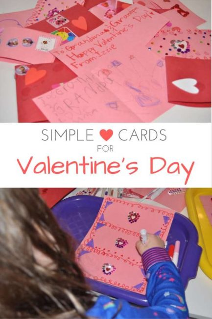 Simple Valentine's Day cards that any kid will have fun making!