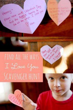 Find ALL the ways I LOVE YOU - Valentine's Scavenger Hunt for Kids