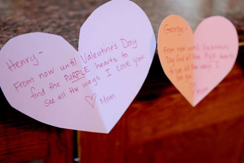 Valentine's scavenger hunt for kids to find all the ways I love them