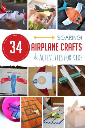 Airplane crafts AND activities to do with the kids!