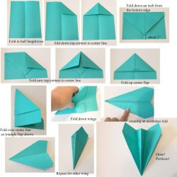 Paper Airplane Step by Step