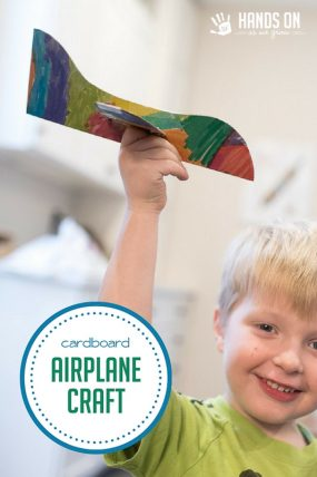 Make a simple cardboard airplane craft with your kids - great for pretend play!