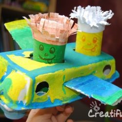 Egg Carton Airplane