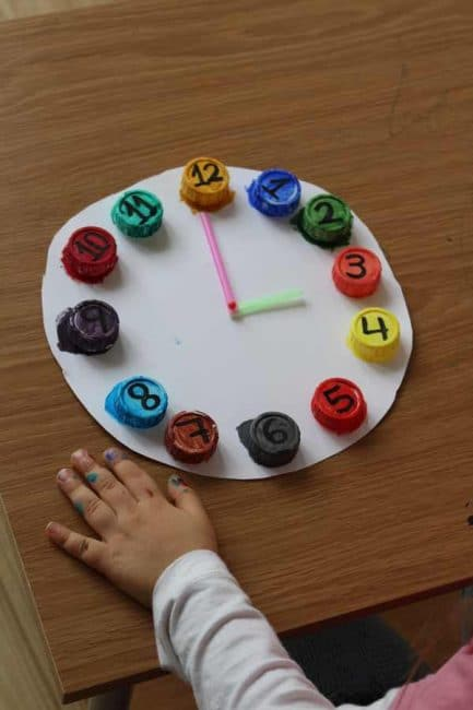 Upcycled Clock: A Color Matching Activity | Hands On As We Grow®