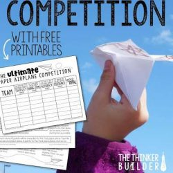 Paper Plane Competition with Free Printables