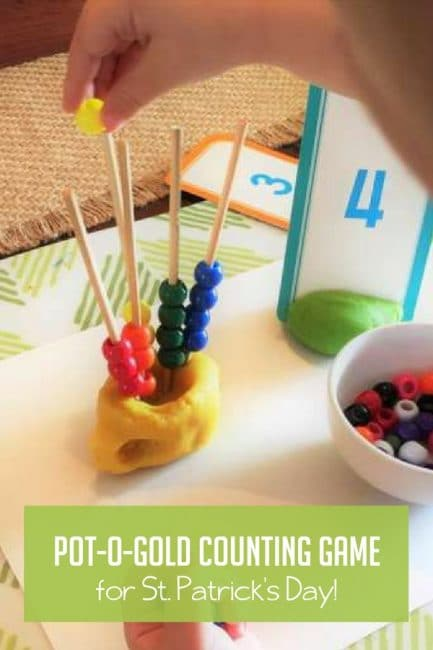 This bead counting rainbow is such a cute way for preschoolers to learn numbers and counting!