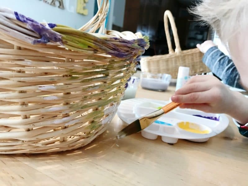 Basket Painting Process Art For Kids